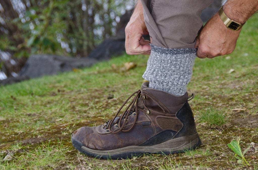 Lyme Disease Prevention, Protecting Against Ticks by Tucking Pants into Socks