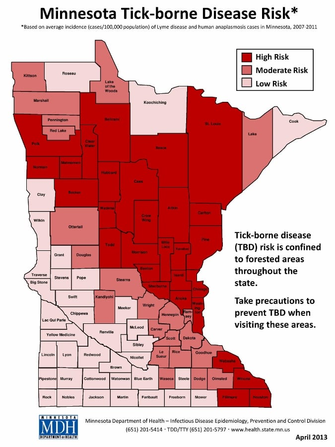 Lyme Disease Risk Map Minnesota